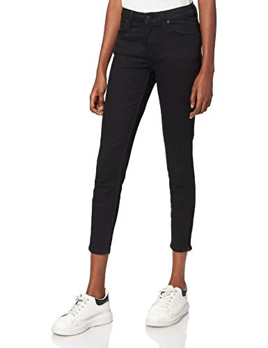 Lee Scarlett Cropped, Jeans Mujer, Negro...