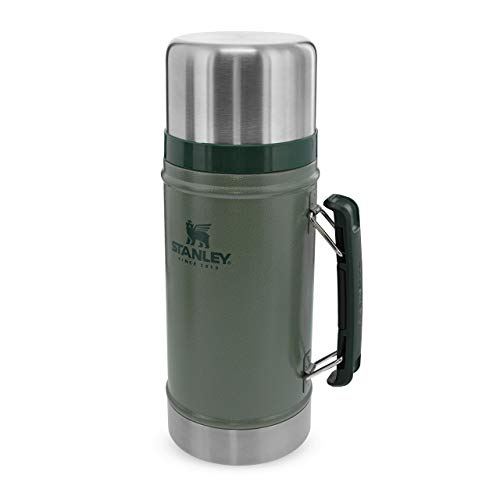 Stanley The Legendary Classic Vacuum Food Jar .94L Hammertone Green 18/8 Stainless Steel Double-Wall Vacuum Insulation Water Bottle Leakproof + Packable Dishwasher Safe Naturally Bpa-Free