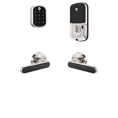 Yale Security B-YRD256-ZW-KCB-619 Yale Assure Lock SL with Z-Wave with Kincaid BK Works with Ring Alarm, Smartthings, and Wink Smart Touchscreen Deadbolt with Matching Lever, Key-Free, Satin Nickel