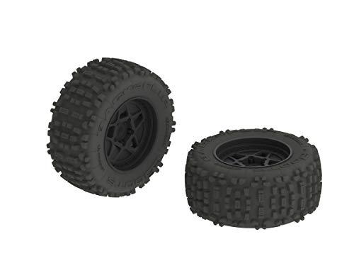 ARRMA AR510092 Dboots Backflip 3.8' Mt 6S RC Monster Truck Tire with Foam Insert, Mounted On Multi-Spoke Wheel 17Mm Hex, Black (Set of 2)