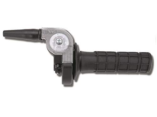 Domino Comando gas rapido senza manopola. In Alluminio Nero. Mono Cavo.Rapidità: 2 °mm. Corsa Max: 48 mm