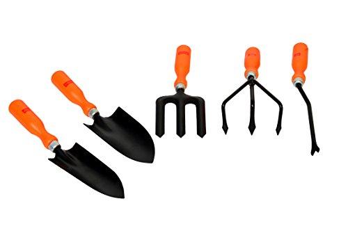 Visko Tools 601 5 Piece Garden Tool Kit (Orange & Black)