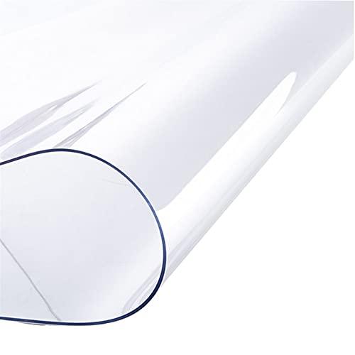 WJDY Forma Redonda Protector Mesa Transparente, Anti-Quemaduras Anti-Aceite Mantel PVC Transparente, para Cocina, Mesa De Centro, Tapete De Mesa Redonda (Color : Clear-3mm, Size : Diameter 130cm)