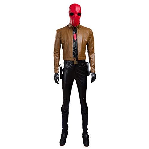 nihiug Costume Cosplay di Batman Cappuccio Rosso Jason Tot Robin Halloween,Grey-S