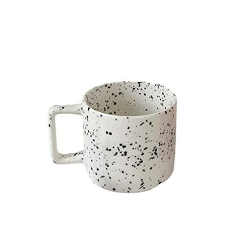 Rghfn Corea ins Forma Simple nórdica Retro chapoteo de Tinta de Taza de Taza de cerámica Taza Taza de Agua Taza Taza Taza de café Taza de café Taza Taza 250ml (Color : Black/White)