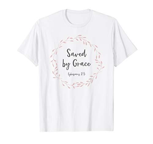 Rettet von Gnade Epheser 2:5 - Bibelverse Christliches T-Shirt