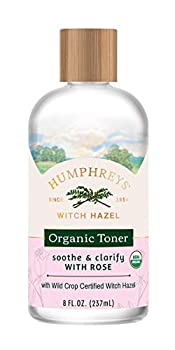 Humphreys Clarify + Soothe Witch Hazel with Rose Organic Toner Clear 8 Oz