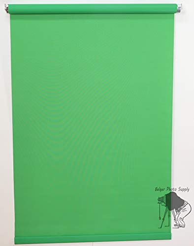 Sale- Work from Home -Zoom Meeting - 5'X8' Chromakey Green (Kelly) Rollup Background System ID Photos