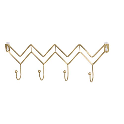 SHYPT Decorative Iron Wall Key Rack Holder Coats Keys Bags Jewelry Hanger Wall Mounted Hanging Home Decor Organizer (Color : A)