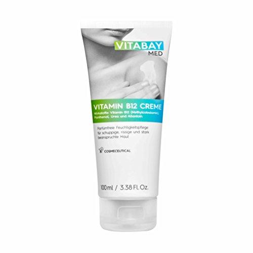 Vitabay Vitamin B12 Creme 100 ml • 5 mg Methylcobalamin + Urea, Panthenol, Allantoin • Für trockene Haut