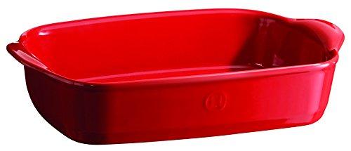 Emile Henry Eh349650 Petit Plat à Four Rectangulaire Céramique Rouge Grand Cru