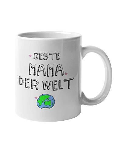 Shirtinator Geschenk Tasse Für die Beste Mama der Welt I Geschenkidee-n Muttertagsgeschenk
