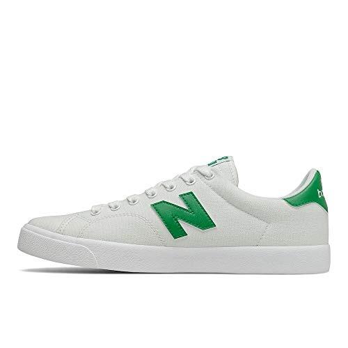 New Balance mens 210 V1 Sneaker, White/Green, 5.5 US