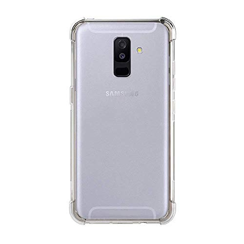 Amazon Brand – Solimo Mobile Cover (Soft & Flexible Shockproof Back Cover with Cushioned Edges)Transparent for Samsung Galaxy A6 Plus