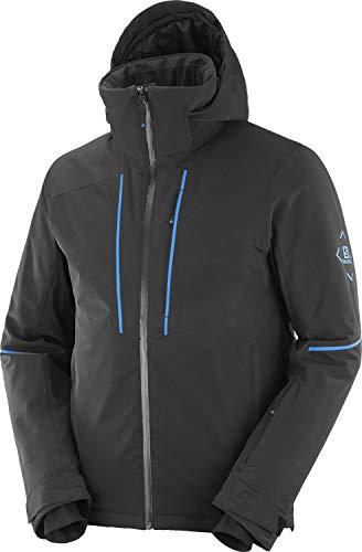 Salomon Herren Ski-Jacke, EDGE JKT M, Polyester/Elasthan/Polyamid, Schwarz, Größe: S, LC1396500