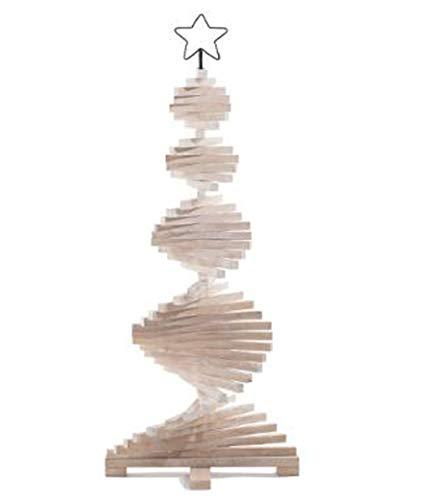 PEGANE Sapin de noël articulé en Bois Coloris Naturel - Dim : D.48 x H.113 cm
