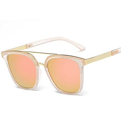 Gafas de sol para mujer retro redondo caja cara en gafas de sol-Black box black gray_Physical shooting