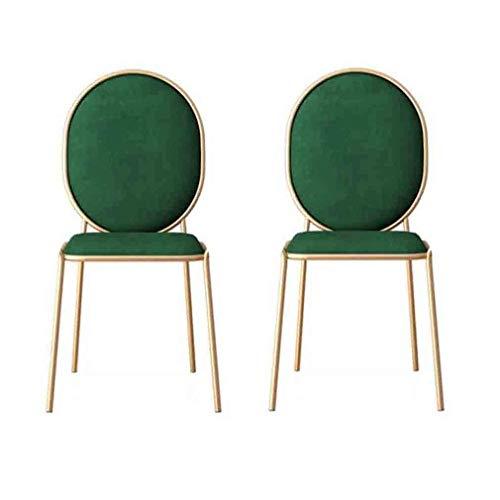 WJJ Silla de Sala Tocador for sillas de Metal Elegante Cena la Silla multifunción Respaldo Maquillaje heces heces Vanidad Sillón Relax (Color : #1)