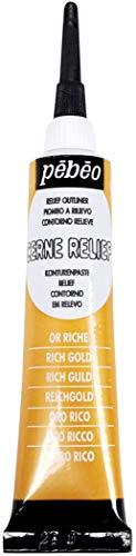 PEBEO Peinture Cerne Relief Or Riche - Tube 20ml