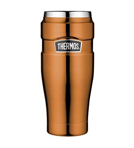 THERMOS 4002.215.047 Coffee-to-Go Thermobecher Stainless King, Edelstahl Copper 0,47 l, 7 Stunden heiß, 18 Stunden kalt, BPA-Free