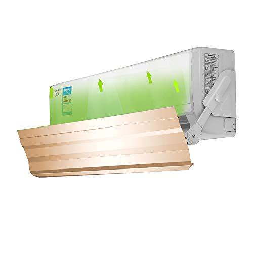 Deflector voor airconditioning, airconditioning voorkomt het bellen, koude lucht, verstelbare vleugels, luchtvaart-aluminiumlegering, geschikt voor airconditioning met een lengte van minder dan 90 cm.