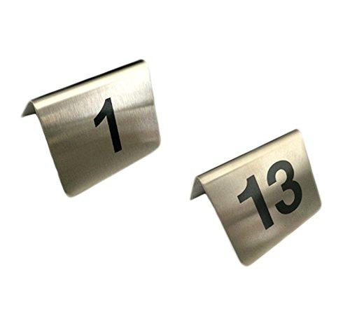 Tischnummernschilder Edelstahl Nr. 1-24 auflackiert