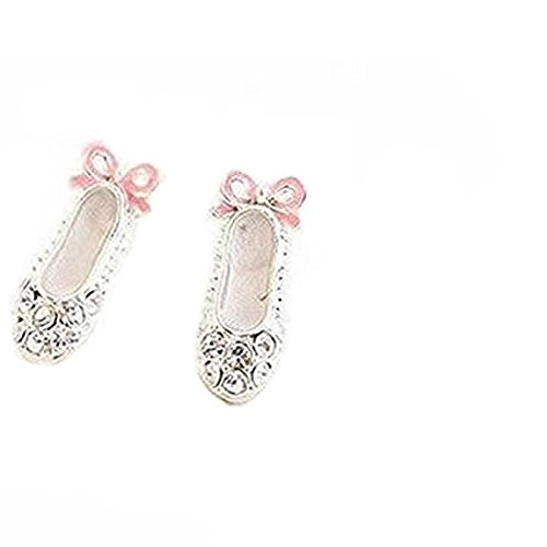 DDG EDMMS - Zapatos Ballet Elegantes Pendientes Lazo