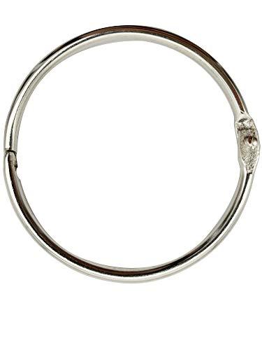 3Inch (12 Pack) Loose Leaf Binder Rings, Nickel Plated Steel Binder Rings, Keychain Key Rings, Metal Book Rings, Silver, for School, Home, or Office