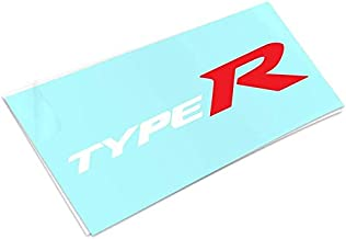 ReplaceMyParts 2PCS Type R Die Cut Vinyl Decal Stickers for Honda Civic Windows Car Truck SUV Walls Laptop, (White Red) 7....