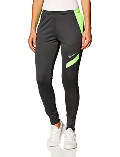 NIKE Academy Pro Knit Pant - Pantalones de chándal para Mujer, Mujer, Pantalones Deportivos, BV6934-062, Antracita Verde Strike White, Large