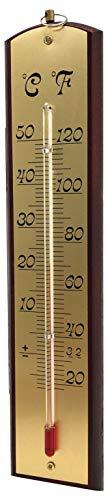 Biotop Wandthermometer für Innen und Außen, mit Schild, Metall, 1x 1x 1cm, B2209