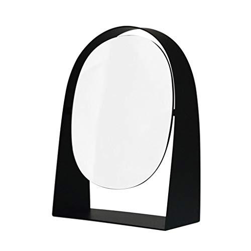 LYUN Miroir de vanité à comptoir Haute définition, Miroir de vanité rotative à 360 ° / Miroir de la vanité pour Tablette, Salle de Bains Voyage en Noir
