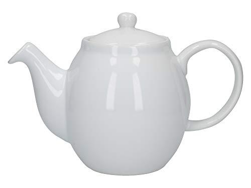 London Pottery C001001 Prime Teapot, Stoneware, White, 4 Cups, 1 Litre