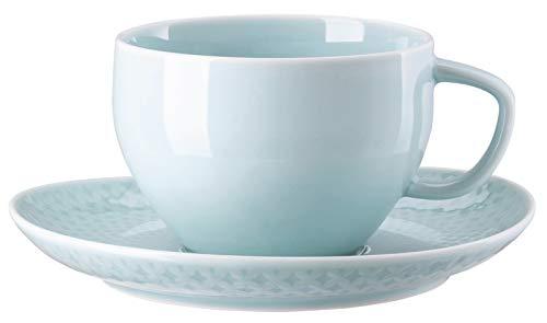Rosenthal Junto 10540-405204-14850 - Cafe au Lait (1 taza y 1 platillo), color verde