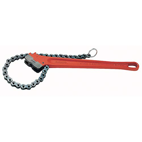 RIDGID 31330 Model C-36 Heavy-Duty Chain Wrench, 4-1/2-inch Chain Wrench , Red , Small