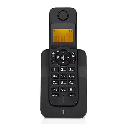 DSJGVN Teléfono Inalámbrico Digital, Teléfono Residencial Inalámbrico, Escalable, Manos Libres, Teléfono Fijo,Teléfono De Escritorio, Identificador De Llamadas,Sistema Telefónico Inalámbrico, Negro