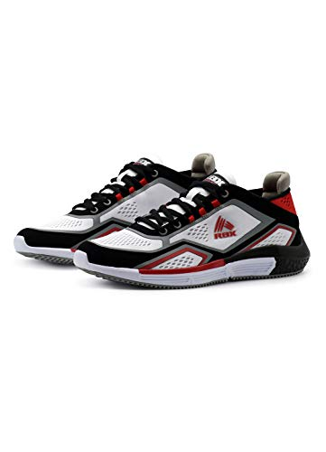 RBX Men's Lightweight Athletic Street Shoe White/Black/Red 10.5