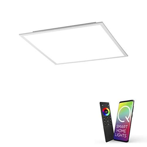 Paul Neuhaus Q-Flag, LED Panel, 45x45, Smart-Home | dimmbare Decken-Lampe mit steuerbarer Farbtemperatur, warmweiss - kaltweiss | Decken-Leuchte Alexa & Google Home kompatibel
