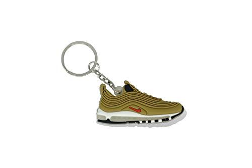 ProProCo Sneaker Schlüsselanhänger Air Max Schuh Schlüsselanhänger 97 98 Schuh anhänger Fashion für Sneakerheads,hypebeasts und alle Keyholder Nik Adi Yeez Supreme Palace (Golden Bullet)