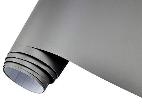 5€/m2 Auto Folie matt - silber/grau metallic matt 300 x 150 cm blasenfrei Car Wrapping Klebefolie Dekor Folie