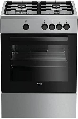 BEKO - FSG62000DX - cucina acciaio inox - 4 fornelli gas - Forno gas - 60 x 60