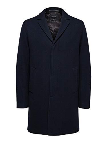 SELECTED HOMME SLHHAGEN Wool Coat B Noos Cappotto di Lana, Zaffiro Scuro, XL Uomo