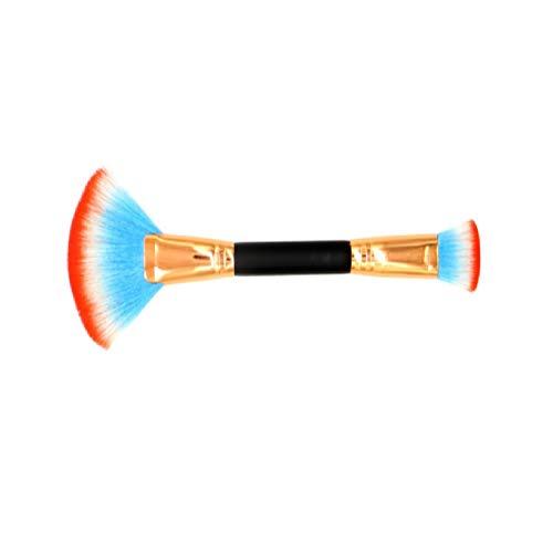 Bailun Makeup Brush Professional Fan-shaped Foundation Brush with Synthetic and Vegan Bristles Blending Face Powder Cosmetics Brush Kits M1