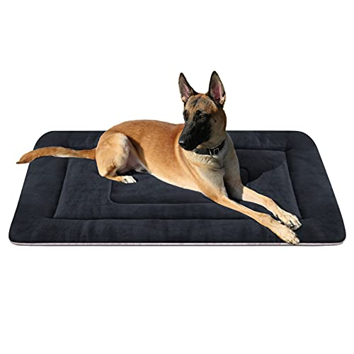 Large Dog Bed 42 inch Crate Bed Pad Mat Soft Washable Pet Beds Non Slip Mattress Kennel Pads