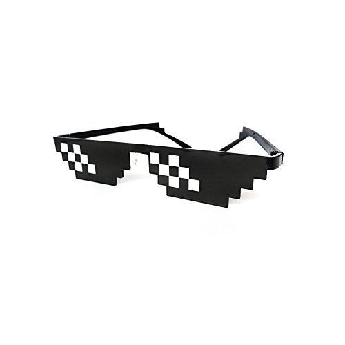 Rawdah Vetri di vita di Thug 8 Bit Pixel Deal con occhiali da sole IT Occhiali da sole unisex Toy Thug Life Glasses 8 Bit Pixel Deal With IT Sunglasses Unisex Sunglasses Toy