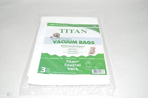 Titan TCS5702 Branded goods TCS6602 Central Vacuum Cleaner Paper 3PK # Max 58% OFF 0 Bags
