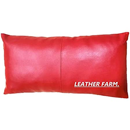 """Genuine Leather Pillow Cover Red 38/"""" x 20/""""  Set Of 2 Pillow Cases"""