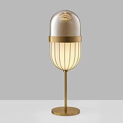 Lámpara de escritorio VIWIV Lámpara de mesa LED de cristal de cápsula de estilo japonés, sala de estar creativa para el hogar, dormitorio de escritorio, estudio de cabecera, decoración del club del ho