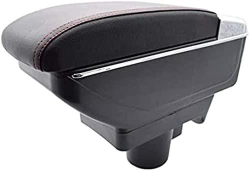 SIOM Caja De Cuero para Reposabrazos De Consola De Coche, para Opel Vauxhall Astra 2004-2010 Organizadores De Consola Central De Doble Capa Almacenamiento De Reposabrazos, Accesorios De Estilo De