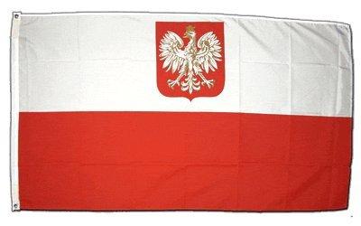XXL Flagge Fahne Polen mit Adler 150 x 250 cm